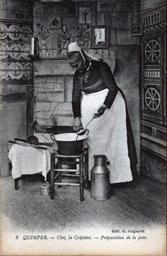 Quimper - Chez la Crépière - Préparation de la pate