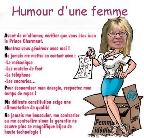 Humour d'une femme