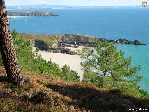 Vue de la plage de Trez Bihan qui se situe à proximité du Guern.
