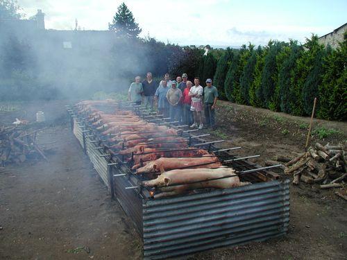 Boeuf grillé pour finir en féte bien il y a toujours un cochon d'invité éhéh