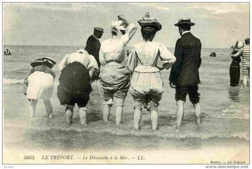 Un-dimanche-a-la-mer 1912 et Odette est déjà là